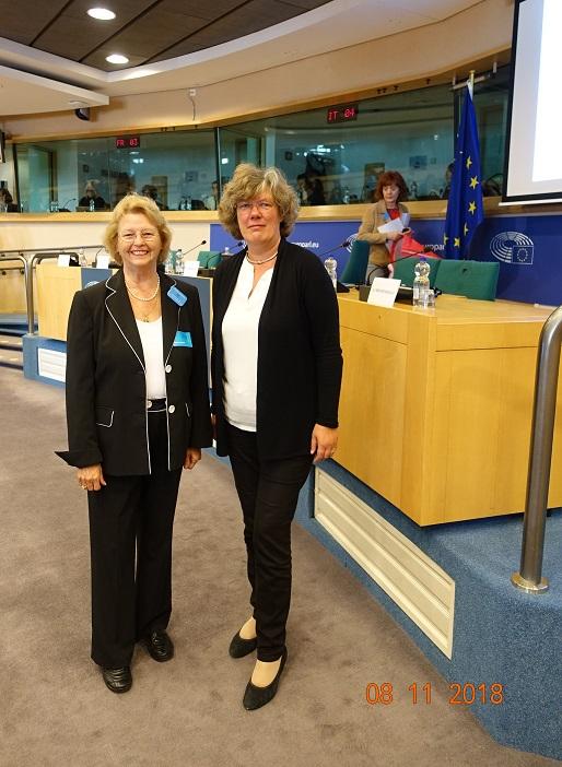 Hélène Sajons and Petra Kammerevert, MEP